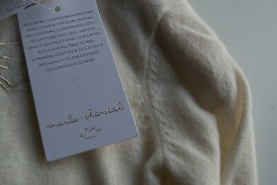 NEW Marie-Chantal Cream BABY Pure Cashmere Jumper Unisex