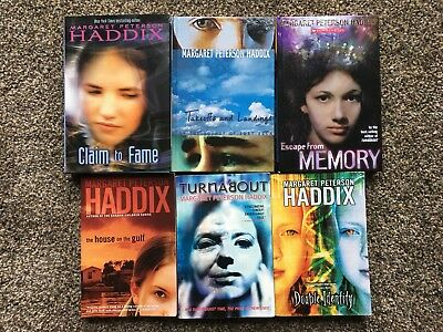 Lot of 6 Margaret Peterson Haddix Books - Double Identity, Turnabout, ++