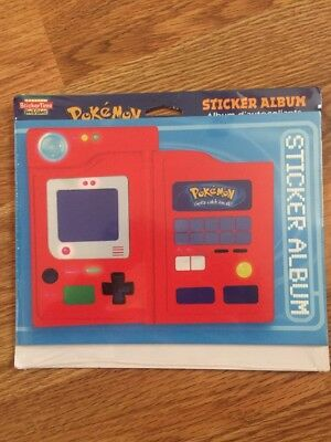 Pokemon Vintage Sticker Album 12 Reusable Pages, Unopened Package
