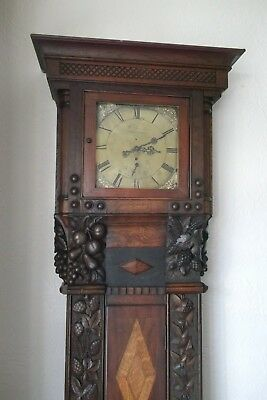 Gorgeous Carved Long Case Clock Case Only