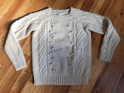 Crewcuts Wool Blend Cable Knit Sweater Popcorn 8 Girls