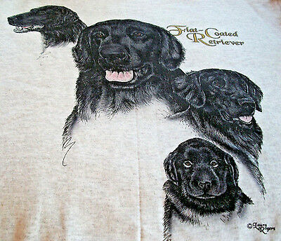"Flat-Coated Retriever Sweatshirt  "" White "" 2XL ( 50 - 52 )"