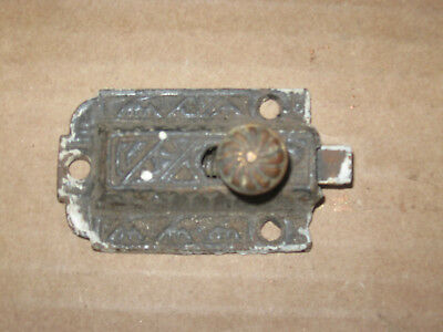 Antique Victorian Eastlake Cabinet Latch Pull No Receiver Cast Iron