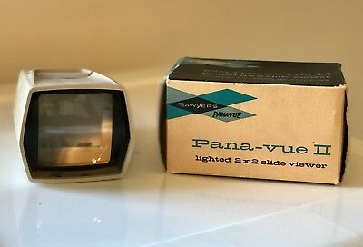 Vintage Sawyer's Pana-Vue II Lighted 2x2 Slide Viewer in Original Box, USA made