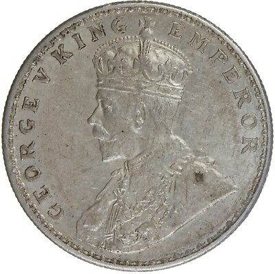 India British George V AR Rupee 1918
