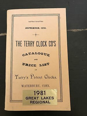 The Terry Clock Co Catalog & Price List from 1875 - reprint