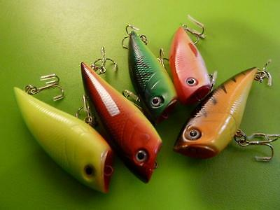 10x DFS 70mm hardbody POPPERS LURE topwater popper (1048) surf 2ea colour