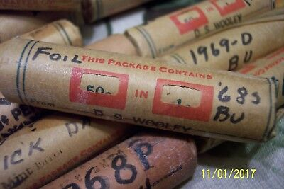 77 Rolls Lincoln One Cent Penny Pennies From Moms Collection Most Uncirculated