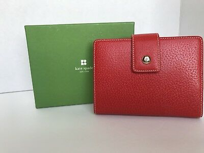 Kate Spade Personal Planner Red Leather 2006 Purse Calendar