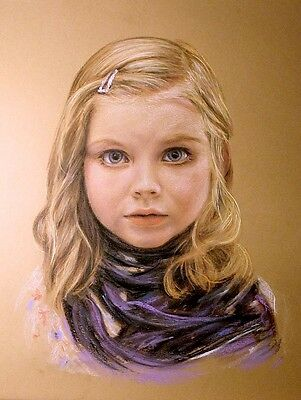 COMMISSION PET,CHILDREN and ADULTS PORTRAIT.CUSTOM  PASTEL PAINTING FROM PHOTO