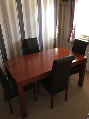 Mahogany Dining Table And 4 Chairs
