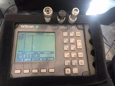 Wiltron/Anritsu Site Master S110 Cable Antenna Analyzer POWER CORD AND CASE INCL