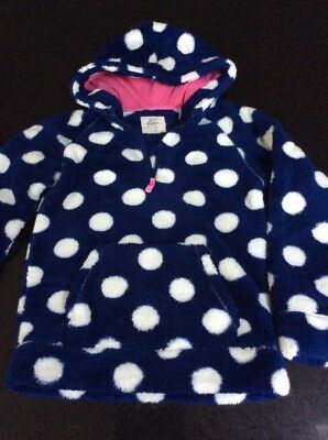 Mini Boden Girls Spotty Hoodie age 11 - 12 fleecy