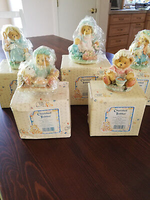 5 ENESCO Vintage, Collectible Cherished Teddies from 1993. Buy all or only 1.