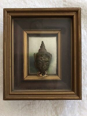 Antique Bronze Ayutthaya Buddha Head
