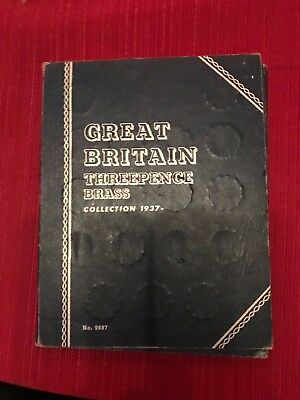 Whitman Great Britain Three Pence Brass Collection  28 Coins 1937 -