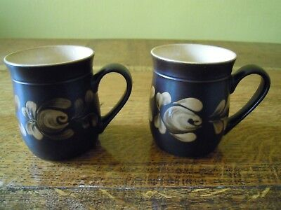 TWO SETS OF PHOTOS... 4 X  DENBY BAKEWELL MUGS BRAND NEW..1sts...JUST LOVELY...