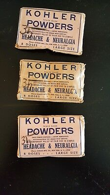 Kohler Headache powder packages  of 8 doses