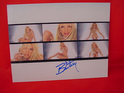 Britney Spears Signed, Autographed, Coa, Excellent Cond