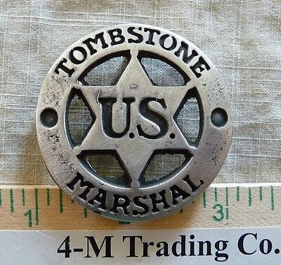 Tombstone U. S. Marshal (Collectable) (Badges Of The  Old West) Free Shipping