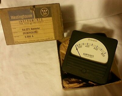 Westinghouse  Ammeter  0-800 Amps,  RA-371