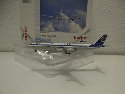 Herpa Wings Olympic Airways A340 SX-DFC 1:500 Airbus A 340-300 504669