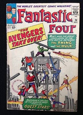 Fantastic Four #26 (May 1964, Marvel) Unrestored Silver Age Comic