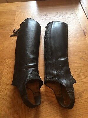 Ariat close contact chaps Size X X Small Black. Zip 13 Inches