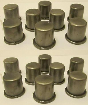 Lot of 16 Metal Oil Caps for Master Oil Spouts