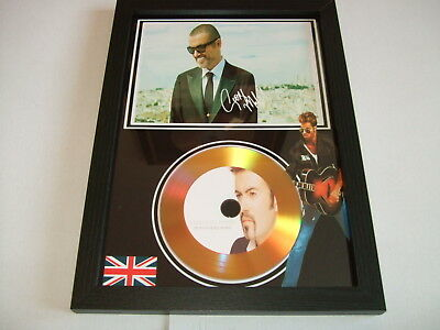 George Michael  Signed  Gold Cd Display 655899