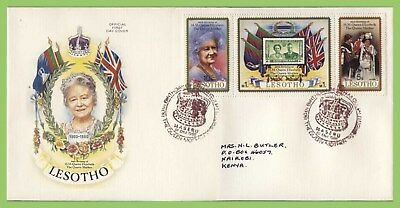 Lesotho 1980 80th Birthday of The Queen Mother set on First Day Cover