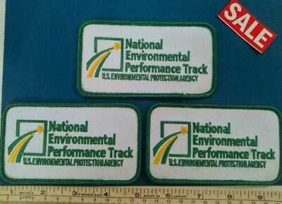 National Environmental Performance Track Iron-On Patches Lot of 3 - SALE PRICE!