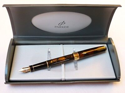 Parker Sonnet  China Laque Füllfederhalter 18K M Fountain  Pen  Boxed   NOS