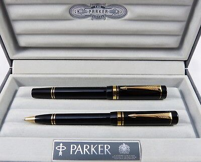 Parker Duofold International Füllfederhalter 18K OB Kugelschreiber FOUNTAIN PEN