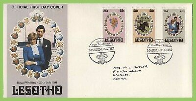 Lesotho 1981 Royal Wedding set on First Day Cover