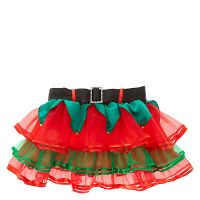Claire's Christmas Holiday Elf RuffleTutu Skirt Girl's/Women's Junior Size M/L
