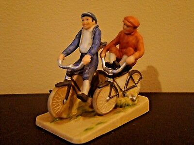 Norman Rockwell Bicycle Boys N.R. Museum Figurine