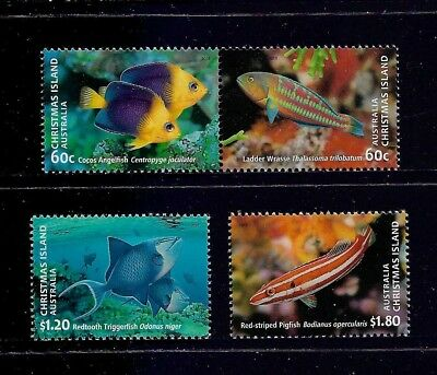 CHRISTMAS ISLAND 2013 Fish, mint set of 4, MNH MUH