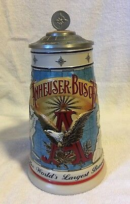 "Budweiser Collectors Club 1996 Membership Stein ""Worlds Largest Brewer"""