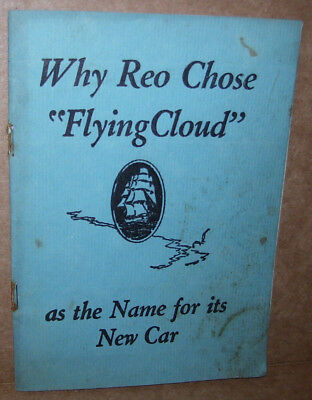 "Vintage Booklet Titled Why REO Chose ""Flying Cloud"" as The Name For It's New Car"