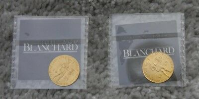 1927 & 1928 Gold Dutch Ducats, Netherlands, Holland Sealed package Graded BU