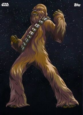 GALACTIC ICONS CHEWBACCA Topps Star Wars Card Trader Digital
