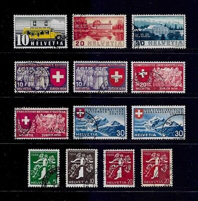 SWITZERLAND - mixed collection No.19, 1937-1939