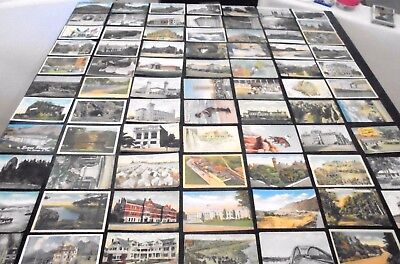 Lot of 100 antique and vintage LINEN POSTCARDS some with messages many areas