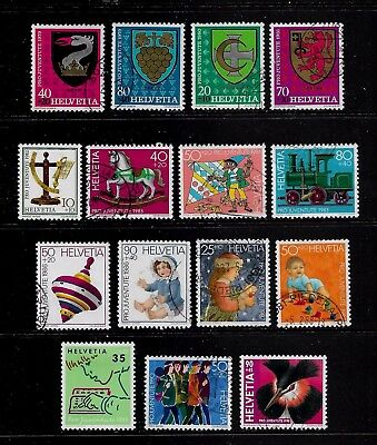 SWITZERLAND - mixed collection No.21, 1979-1998 Pro-Juventute