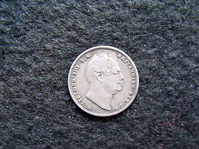 1835 Sixpence William IIII .925 Silver British Penny 6d Coin