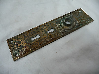 Antique Victorian Door Plate - C. 1880 Brass Architectural Salvage