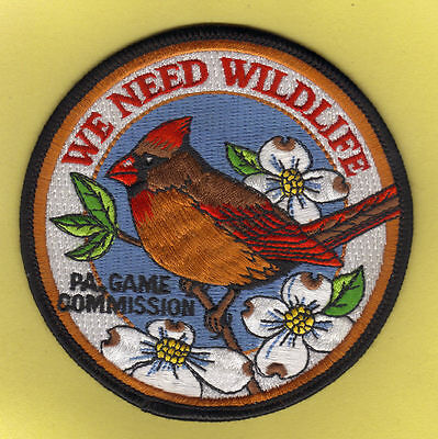 Pa Pennsylvania Game Fish Commission We Need Wildlife Female Cardinal Bird Patch