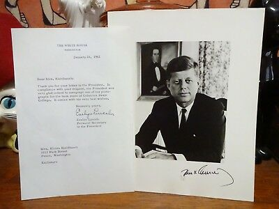 HAND SIGNED President John F. Kennedy JFK Photo w/ Letter ~ Autograph Signature