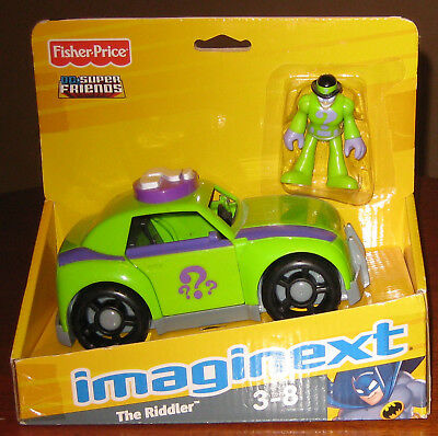 2009 Fisher Price DC Super Friends Imaginext The Riddler Figurine Car NOS